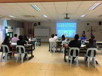 A series of talks on Good Enough Parenting was conducted for parents